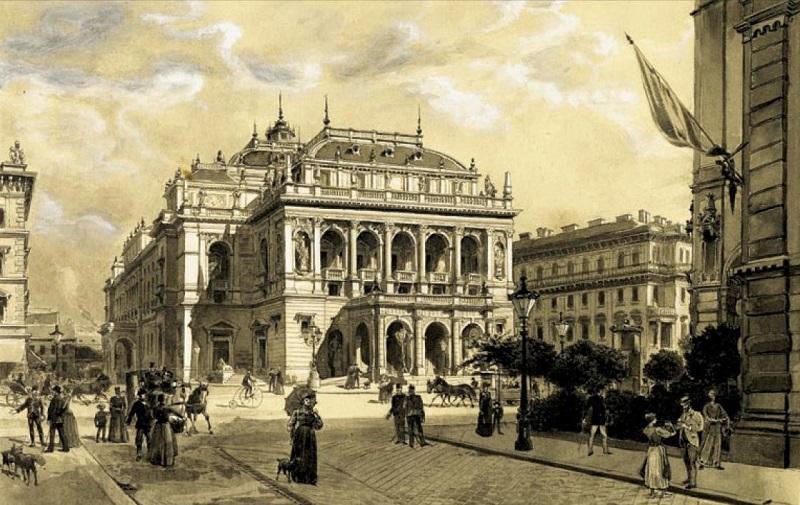 Operna hiša Budimpešta Madžarska